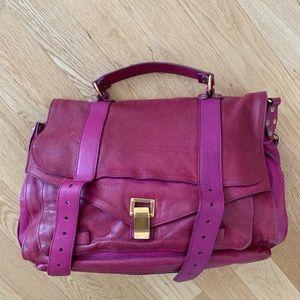 Proezna Schouler PS1 Large Leather Satchel